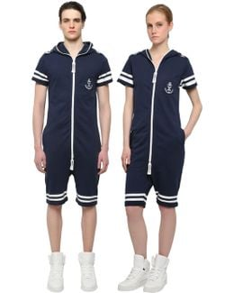 Naval French Terry Cotton Jumpsuit