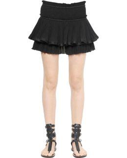 Ruffled Cotton Voile Skirt