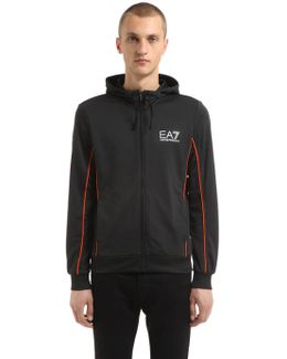 Hooded Zip-up Jersey Track Jacket