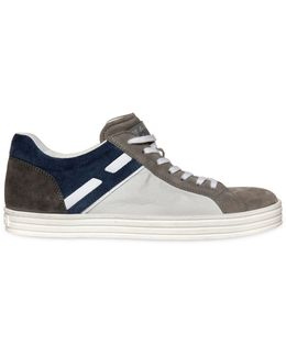Color Block Suede & Papirok Sneakers