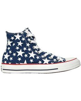Chuck Taylor Hi Ox Stars Canvas Sneakers