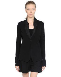 Cool Wool & Silk Poplin Jacket