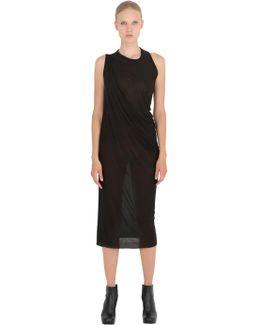 Draped Bamboo Jersey Dress