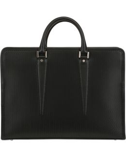 Embossed Leather Briefcase