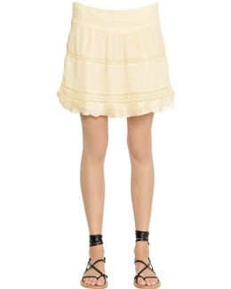 Cotton Voile & Crocheted Lace Skirt
