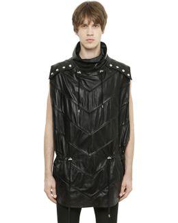 Sleeveless Leather Poncho
