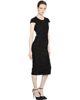 Cotton Macramé Lace & Organza Dress