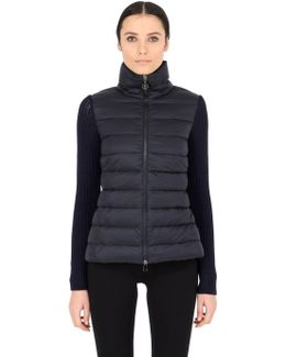Wool Knit & Quilted Nylon Jacket