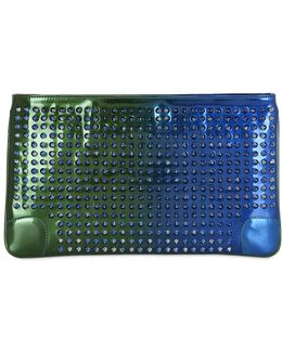 Loubiposh Spikes Leather Clutch