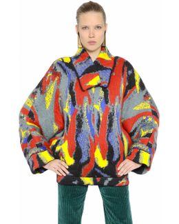 Wool Jacquard Kimono Style Sweater