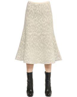 Marvita Wool Boucle Knit Skirt