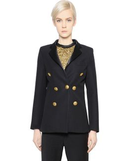 Double Breasted Wool Suiting Jacket