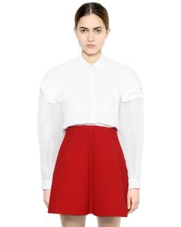 Organza & Cotton Poplin Shirt