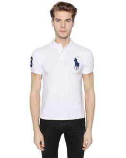 Slim Big Pony Cotton Piqué Polo Shirt