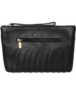 Rib Cage Embossed Leather Pouch