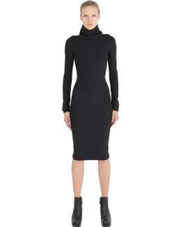 Stretch Viscose Crepe Dress