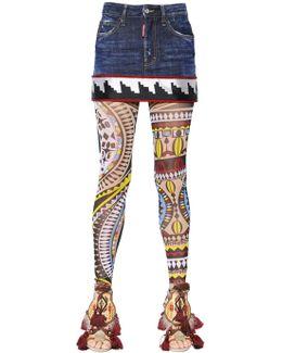 Cheyenne Denim Mini Skirt