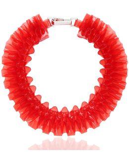 Ruffled Pvc Necklace