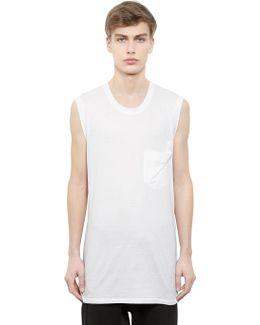 Sleeveless Cotton & Modal Jersey T-shirt