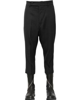 Cropped Wool Drill Pants