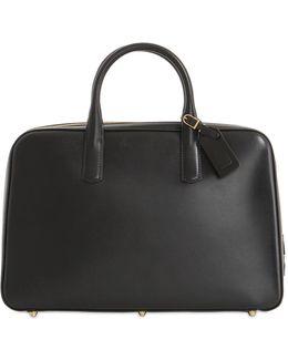Slim Overnight Leather Briefcase