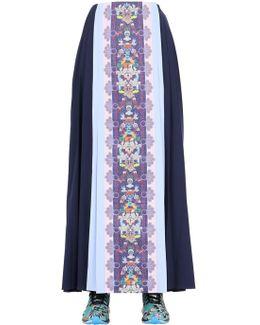 Color-Blocked Mesh Skirt