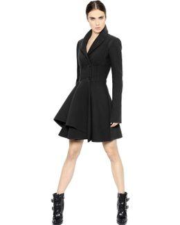 Wool Blend Scuba Coat
