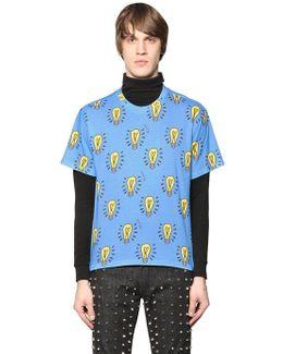 Light Bulb Printed Cotton T-shirt