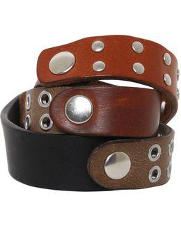 Studded Leather Wrap Bracelet
