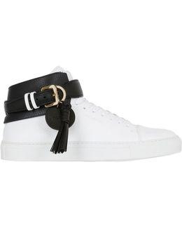 Leather Sneakers W/ Tassels
