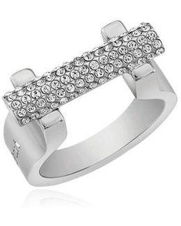 Sphere Bar Swarovski Crystal Ring