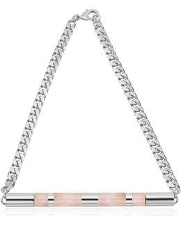 Cylinder Stone Necklace
