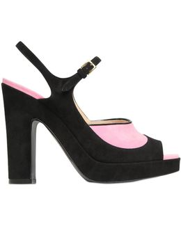 115mm Suede Sandals
