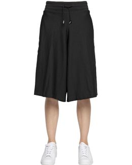 Mesh Culottes With Drawstring