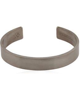 Le 33 Black Brushed Silver Bracelet