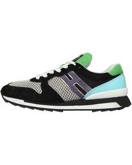 20mm Suede & Mesh Sneakers