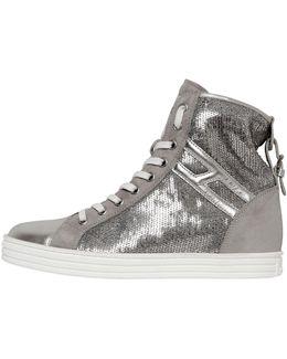 50mm Sequin & Suede Sneakers