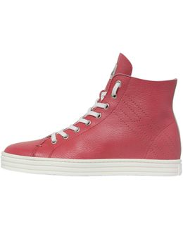 50mm Soft Leather High Top Sneakers