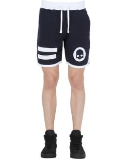 Hockey Cotton Jogging Shorts W/ Patches