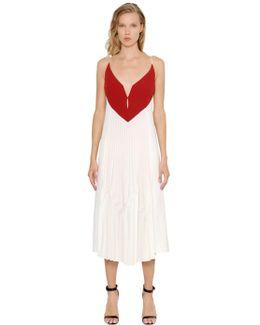 Valentina Memphis Plisse Crepe Dress