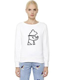 Rocky Choupette Print Cotton Sweatshirt