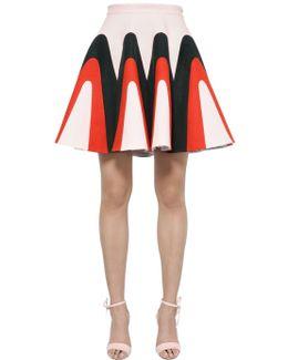 Linen Gabardine Godet Skirt