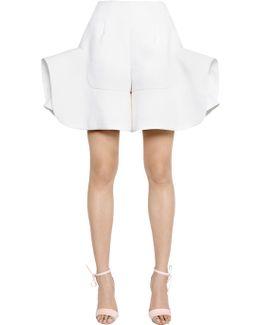 Ruffled Linen Blend Shorts