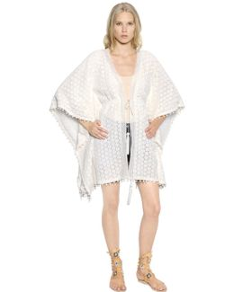 Cotton Crocheted Lace Caftan Cardigan