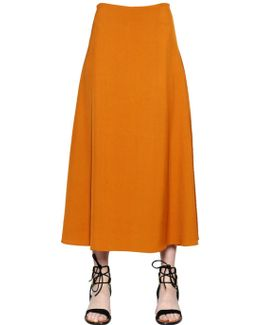 Flared Fluid Canvas Skirt