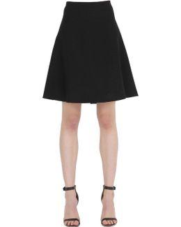 Flared Crepe Skirt