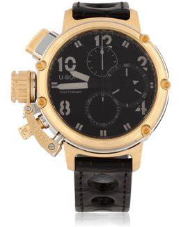 Chimera 46mm Sideview Gold Chrono Watch
