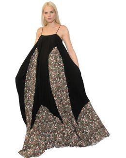 Floral Printed Georgette Maxi Dress