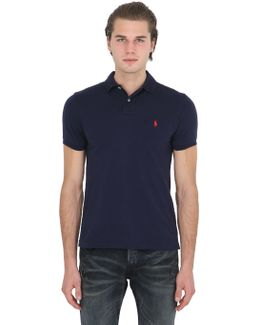 Slim Fit Logo Cotton Piqué Polo
