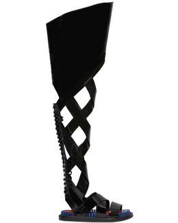 Patent-Leather Gladiator Sandals